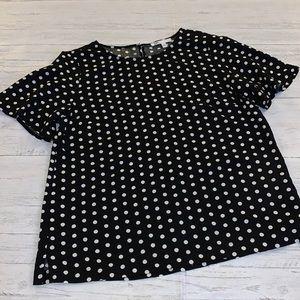 DR2 NORDSTROM polka dot blouse CLASSIC medium Med